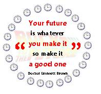 Citaat Back to the Future - Leef je levensdoelen